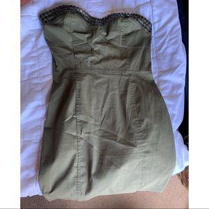 Olive strapless dress